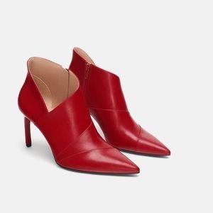 Zara NEW red Stiletto bootie